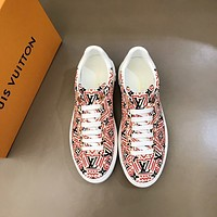 lv men fashion boots fashionable casual leather breathable sneakers running shoes 118