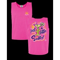 Sassy Frass Just a Little Salty Drink Cactus Comfort Colors Girlie Bright Tank Top T Shirt