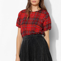 Motel Pacey Plaid Top - Urban Outfitters