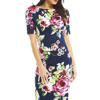 Elegant Floral Print Work Business Casual Party Pencil Dress