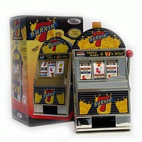 Burning 7's Slot Machine Bank W- Spinning Reels