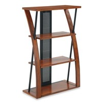 Office Star Products Aurora Bookcase with Powder-Coated Black Accents