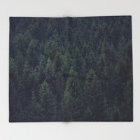 Deep In The Woods Throw Blanket by Tordis Kayma | Society6