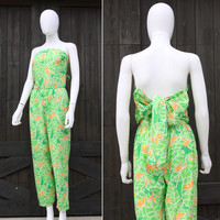 Vintage 70s The Lilly Pulitzer Palm Beach Preppy Jumpsuit Romper
