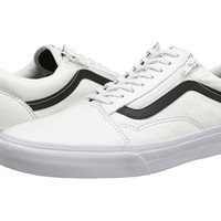 Vans Old Skool™ Zip (Premium Leather) True White - Zappos.com Free Shipping BOTH Ways