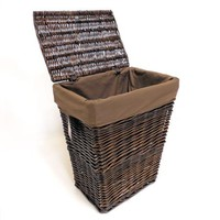 Better Homes and Gardens Handwoven  Willow Laundry Hamper - Walmart.com