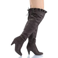Amazon.com: Breckelle's Leann-14 Suede Thigh High Boots: Shoes