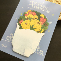 Garden Flower Sticky Notes Memo Pad Labels   Bookmark Stationary Paper   School Office Supplies   Removable Adhesive Cute Korean Post-It M33