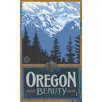 Personalized Oregon Beauty Wood Sign