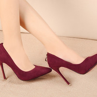 Fashion Pointed Suede Stiletto High-Heel Shoes