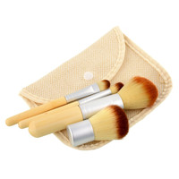 2016 HOT 4PCS Natural Bamboo Handle Makeup Brushes Set Cosmetics Tools Kit Powder Blush Brushes register post GMR63