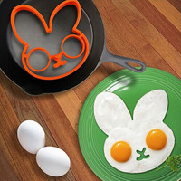 Best Deal egg little white rabbit egg shaper silicone moulds egg ring silicone mold cooking tools 69838