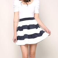 Stripe Skater Skirt