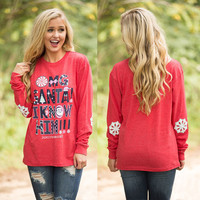 Winter Women's Fashion Thicken Christmas Print Long Sleeve T-shirts [9600182991]