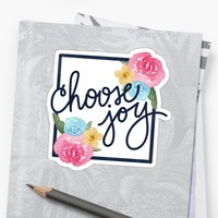 'Choose Joy' Sticker by noondaydesign