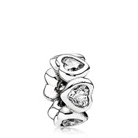 PANDORA Spacer - Sterling Silver & Cubic Zirconia Space in My Heart