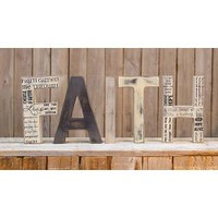 Faith Wooden Words Primitive Display