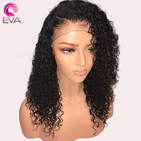 Glueless Lace Front Human Hair Wigs Pre Plucked With Baby Hair Brazilian Remy Hair Light Yaki Straight Lace Front Wigs Eva Hair