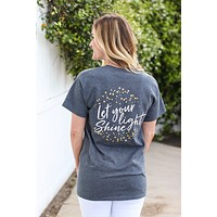 Southern Darlin Let Your Light Shine Bright Girlie T-Shirt