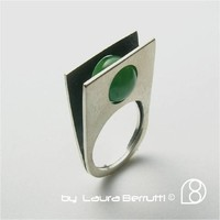 Supermarket: Sterling Ring with Round Jade Stone from LaB  Inspired Sterling    by Laura Berrutti