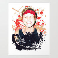 Ashton paint splatter Art Print by kikabarros