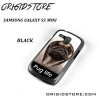 New Design Funny Hilarious Pug Life Parody Fans For Samsung Galaxy S3 Mini Case UY