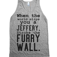 C - Stroke the furry wall-Unisex Athletic Grey Tank
