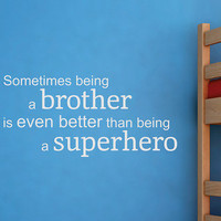 Wallquotes.com by Belvedere Designs - White 'Superhero Brother' Wall Quote