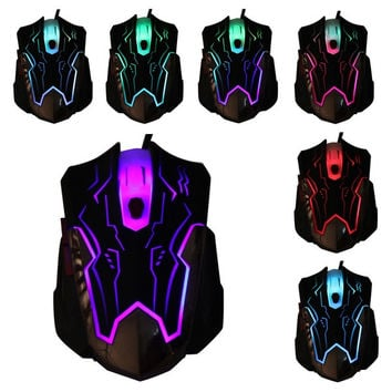 USB Wired Laptop PC Game Gaming Mouse Adjustable 2400 DPI Optical 6 Buttons Mice (Color: Black) = 1842980548