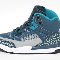 Jordan Toddler's Spizike BP Space Blue/Gray Baby Basketball Shoes 317700 407