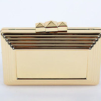 Punk Metal box Clutch Runway Fashion Evening Clutch Metallic Purse