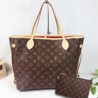 Louis Vuitton Ladies - Girls exclusive your fashion bags Handbag Shoulder Bag and Wallet two piece a set