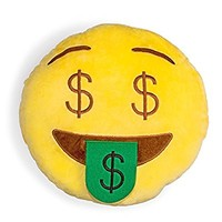 Money Face Shelfies Emoji Pillow