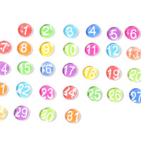 YOU choose your own COLOR - colorful calendar magnet NUMBERS set, 2013 perpetual calendar