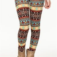 A'GACI Natural Tones Fairisle Legging - BOTTOMS