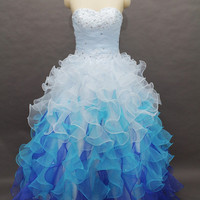 Silhouette Sweetheart Neckline Organza Beaded Ball Gown