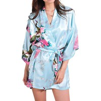 Night Sexy Robes Night Grow For Bridesmaid Summer Women Kimono Robe Robe Longue Femme For Women