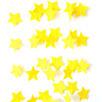 Yellow Felt Star Garland - Christmas Star garland, Christmas bunting, home decor, felt bunting, yellow garland banner, birthday decorations