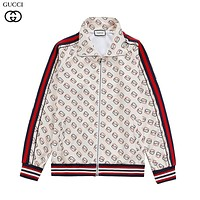 GUCCI new full-body pattern LOGO printed zipper jacket-1