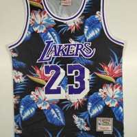 LeBron James Los Angeles Lakers Mitchell & Ness Floral Fashion Hardwood Classics Swingman Jersey - Best Deal Online