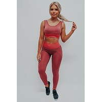 You Got This Sports Bra: Red/Multi