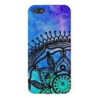Electric Watercolor Mandala iPhone 5 Case. from Zazzle.com