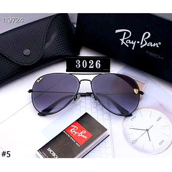 Ray-Ban 2019 new large box HD driving polarized color film sunglasses #5