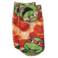 Teenage Mutant Ninja Turtles Pizza Ankle Socks - Toddler Boy, Size: 2T-4T (Blue)