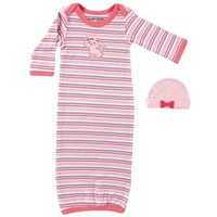 Luvable Friends Preemie Gown & Cap | Affordable Infant Clothing