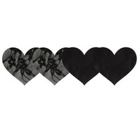 Satin And Lace Hearts Pasties 2 Pack