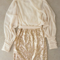 Sparkling Darling Dress in Ivory : Vintage Inspired Clothing & Affordable Dresses, deloom | Modern. Vintage. Crafted.