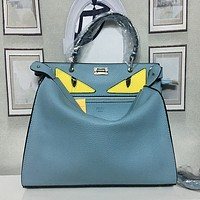 FENDI Women Shopping Bag Leather Tote Handbag Shoulder Bag