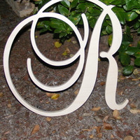 """26"""" Large  Wooden Wall Letters - Monogram Letters- Wedding Decor Letters"""