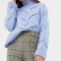ASOS DESIGN high waist skinny pants in check jacquard | ASOS